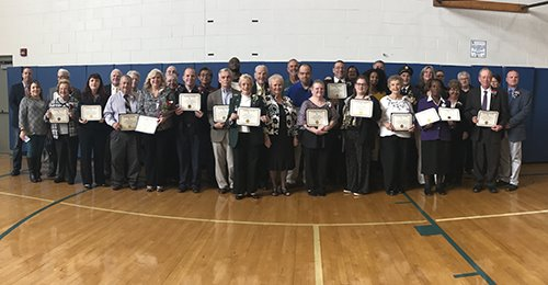 Woodbridge honors Community Volunteers at Community Day ceremony.