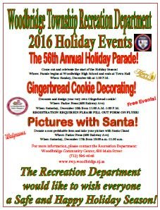 Recreation Department Holiday Flyer