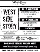 West Side Story Auditions Flyer