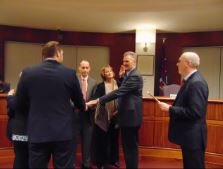 Councilman Rick Dalina takes the Oath-of-Office as President of the 2017 Council.
