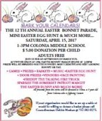 Colonia Corner Easter Bonnet Parade Flyer