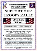Support Troops Rally Flyer