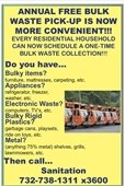 Bulk Waste Pick-Up Flyer