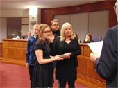Councilwoman Debbie Meehan, receives the Oath-of-Office as Council Vice-President for 2017.
