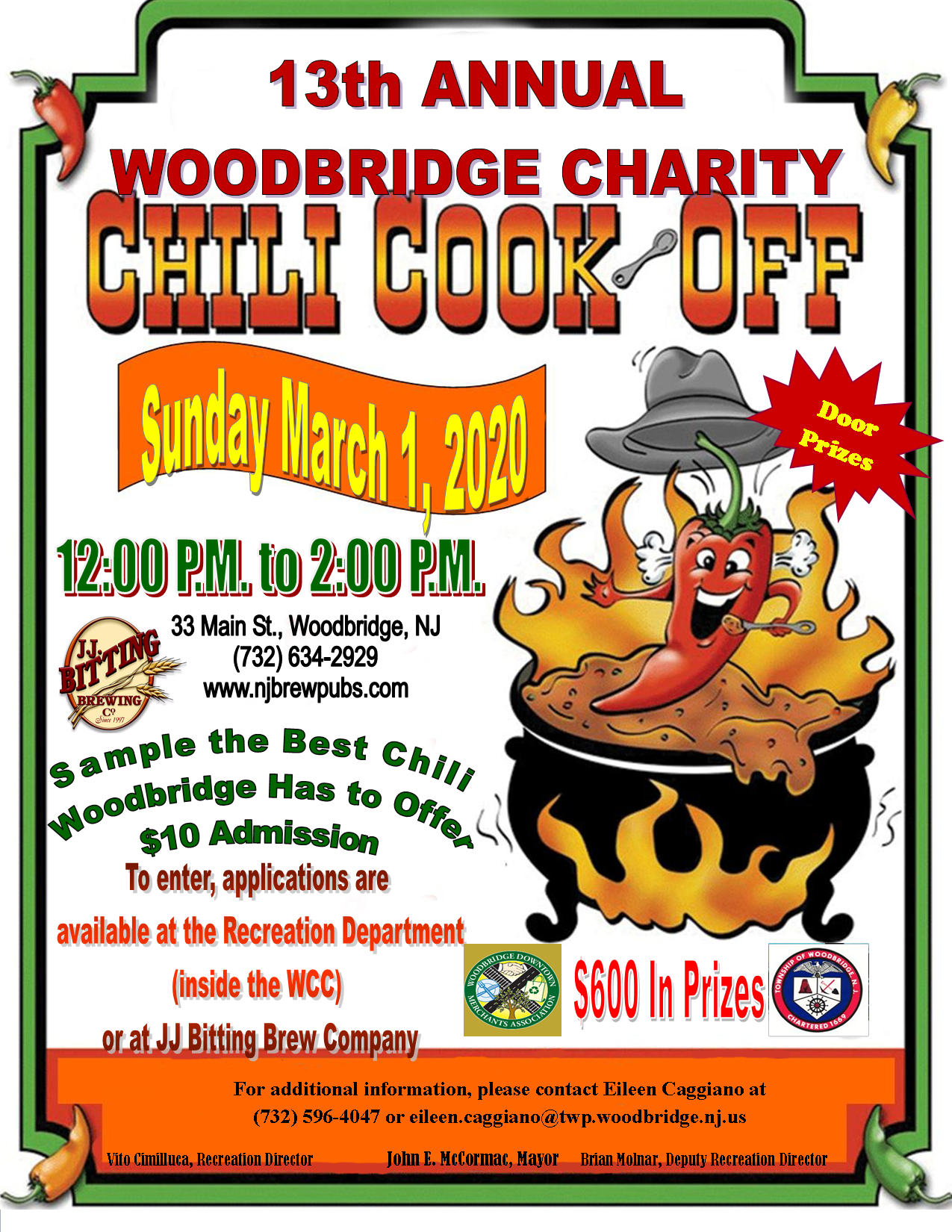 Chili Cook Off Flyer 2020