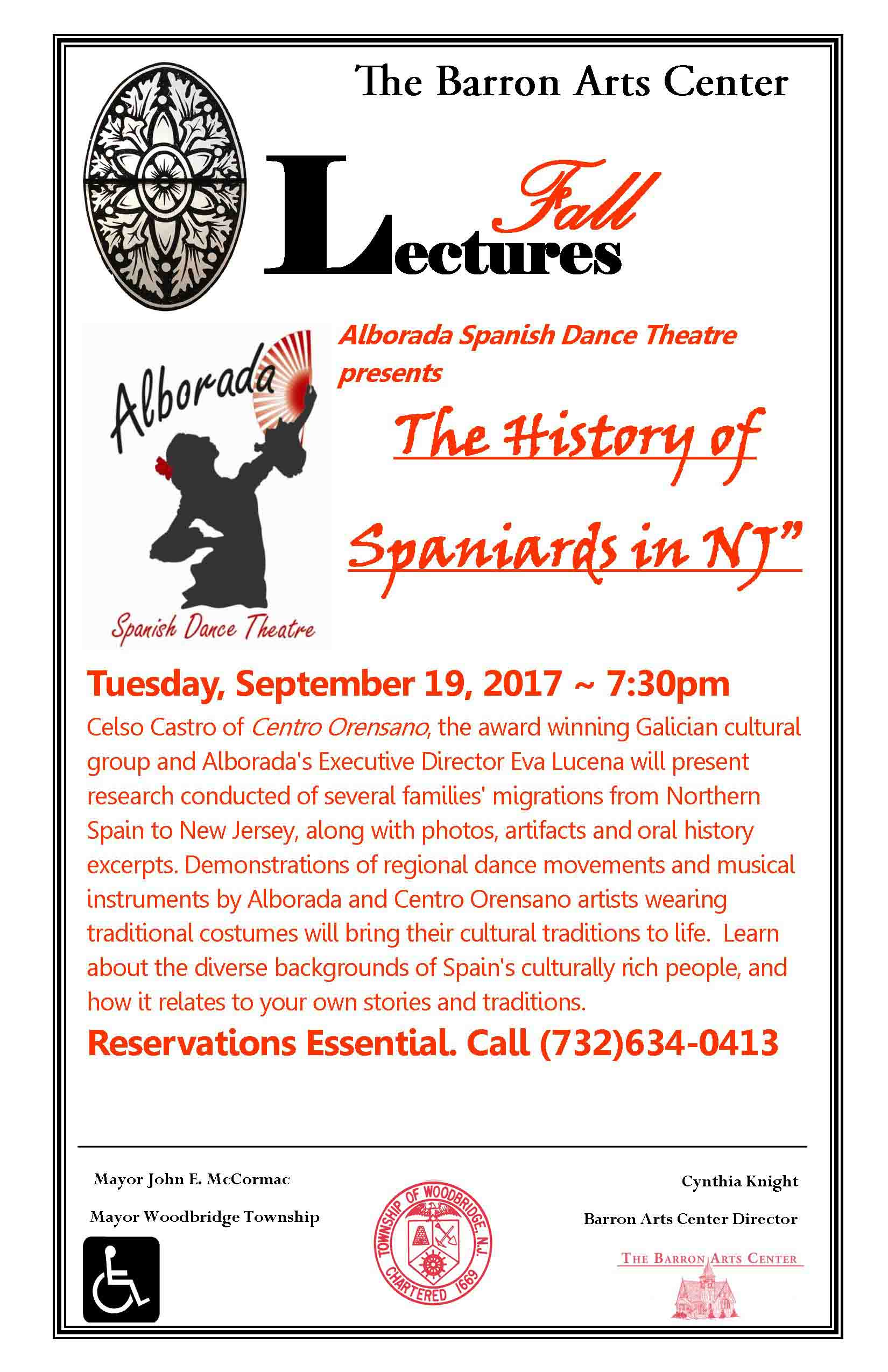 The History of Spaniards in NJ Lecture