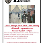 Lecture: French Impressionism