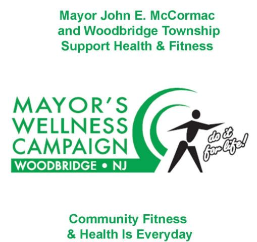 "Mayor Wellness Logo ""Mayor John E. McCormac and Woodbridge Township Support Health and Fitness"