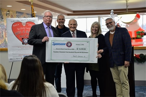 "The Paul Sansone Foundation took ""First Place"" with a $14,250.00 'Have-A-Heart' donation."