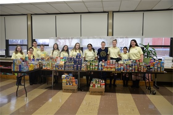 The St. John Vianney Student Council contributed 1,000 pounds of non-perishable food to 'Have-A-Heart.'