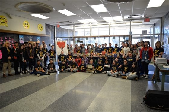 Colonia Middle School contributed over 500 lbs. of food to the 'Have-A-Heart' food drive.