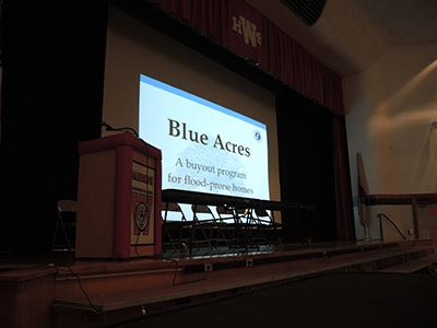 Blue Acres Meeting view of PowerPoint screen