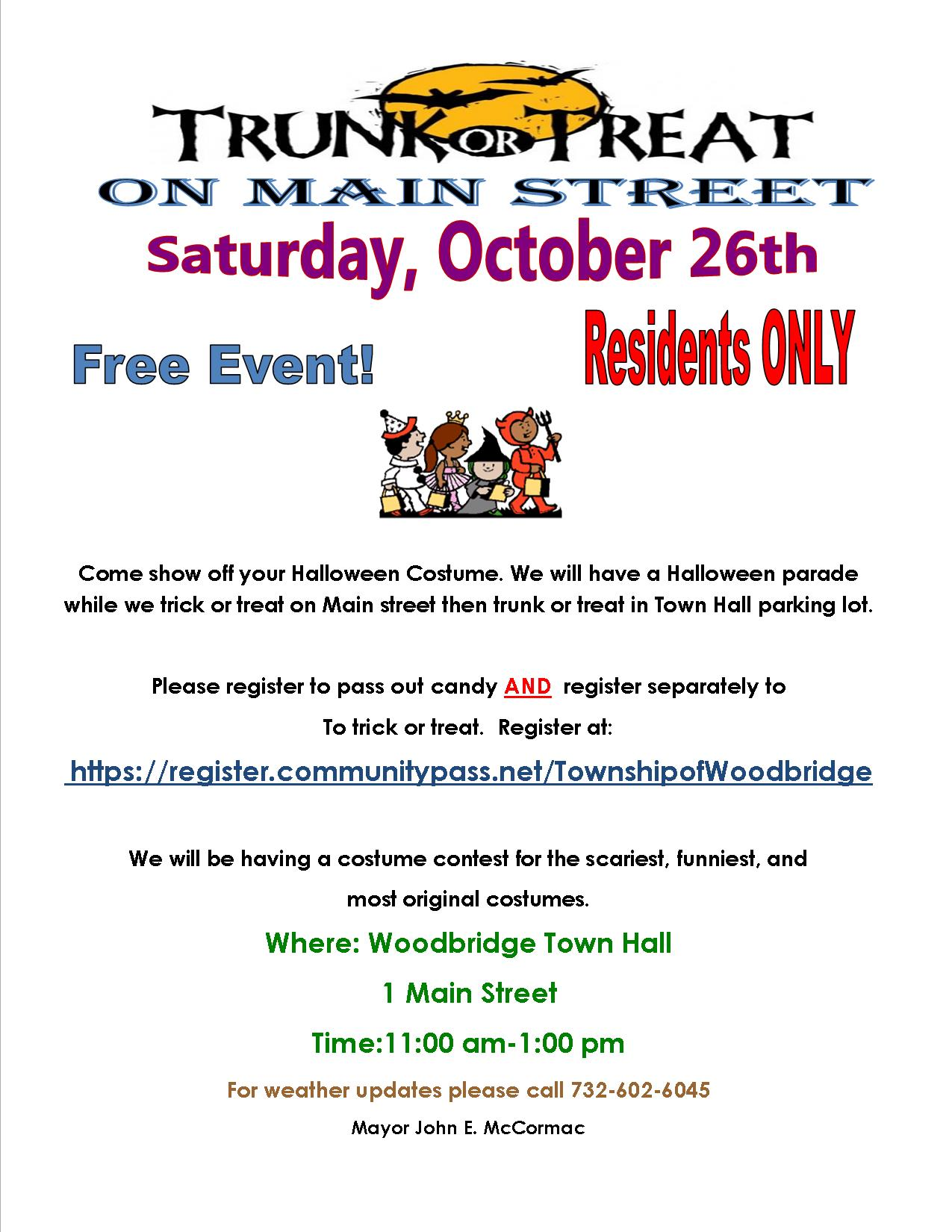 trunk or treat main flyer