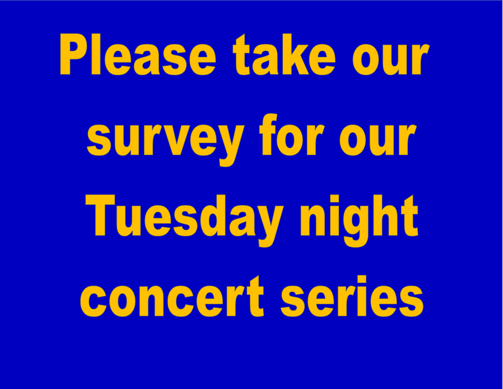 tuesday survey