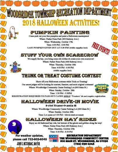 Recreation Halloween Activities_Oct. 2018