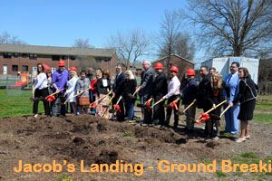 Jacobs Landing - Ground Breaking - Shovels - 4-13-17